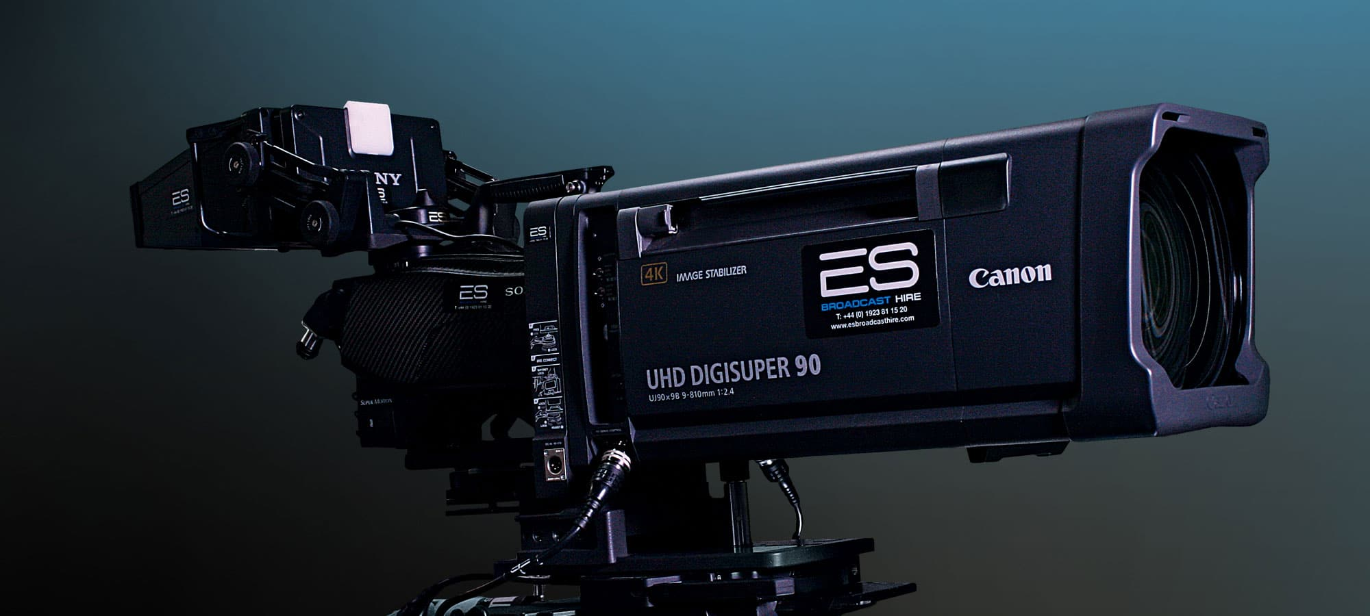 One of the largest 4K broadcast equipment hire: portfolios in Europe