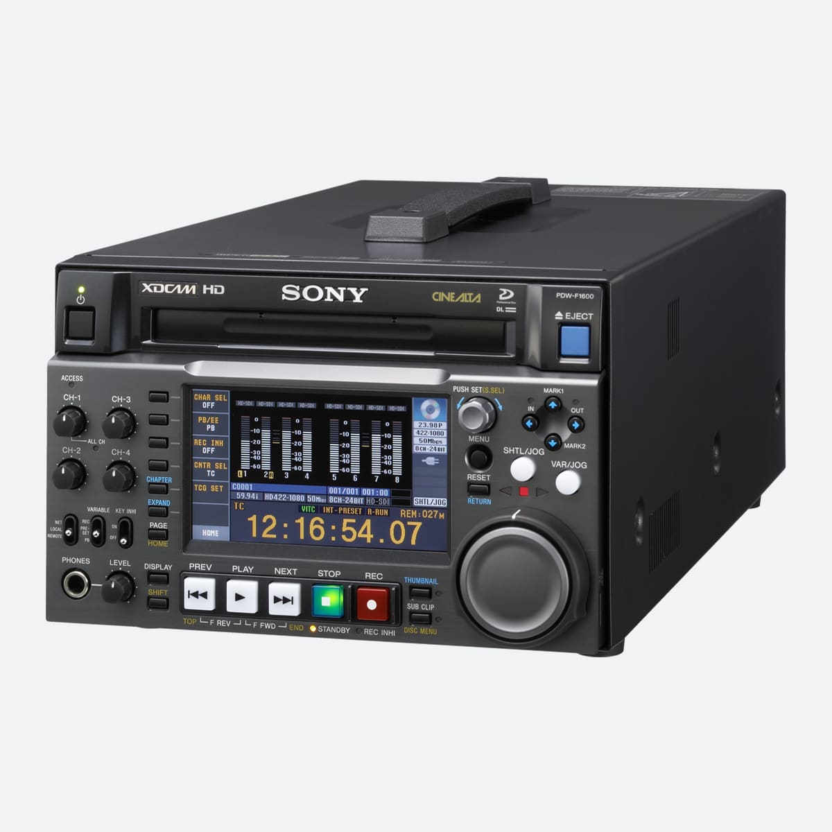 Sony PDW-F1600 XDCAM HD422 Professional Disc Recorder