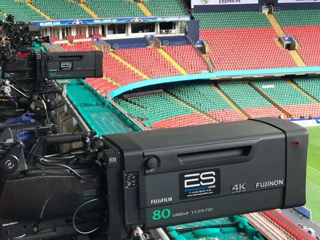 Fujinon UA80 4K Lens at the UEFA Champions League in Cardiff