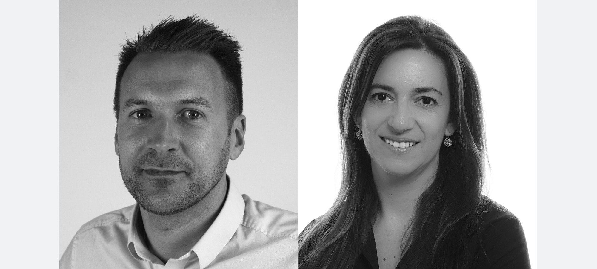 Laurence Hobbs, Business Development Manager UK and Marta Del Moral, who will head up ES Broadcast Hire's Madrid office as Business Development Manager for Spain