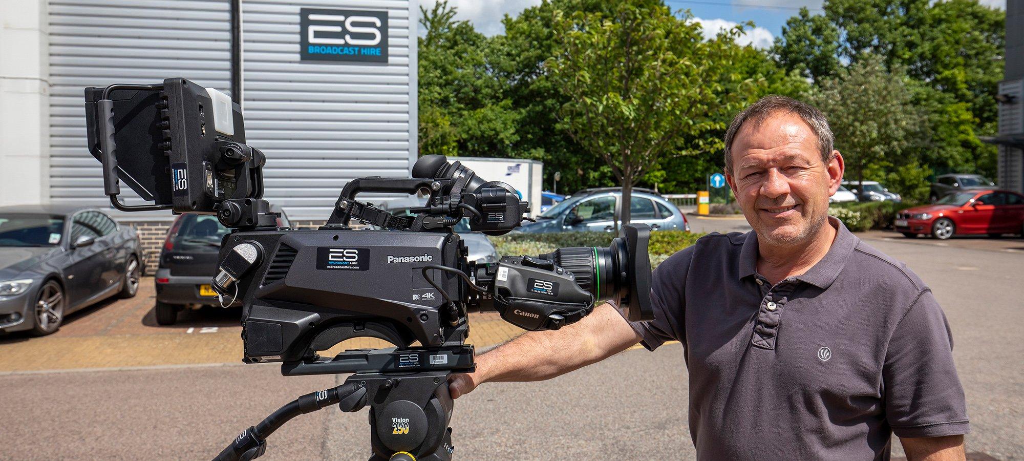 Warren Taggart with Panasonic AK-UC4000 4K systems camera